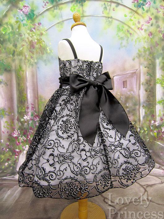 子供ドレス ヴァレリー ブラックホワイト