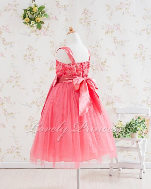 結婚式子供用ドレス キャンディ コーラル