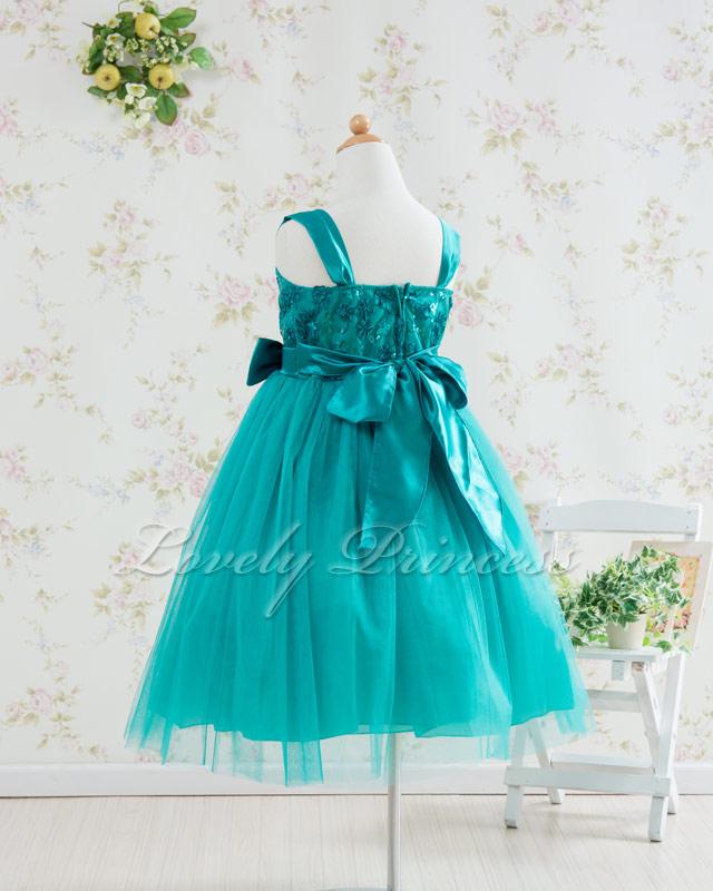 結婚式子供用ドレス キャンディ グリーン