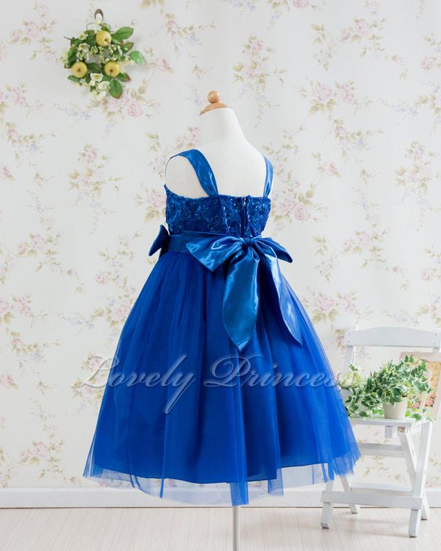 結婚式子供用ドレス キャンディ ロイヤルブルー