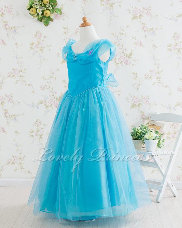 コンクール子供ドレス・ジュニアドレス シンデレラ アクアブルー
