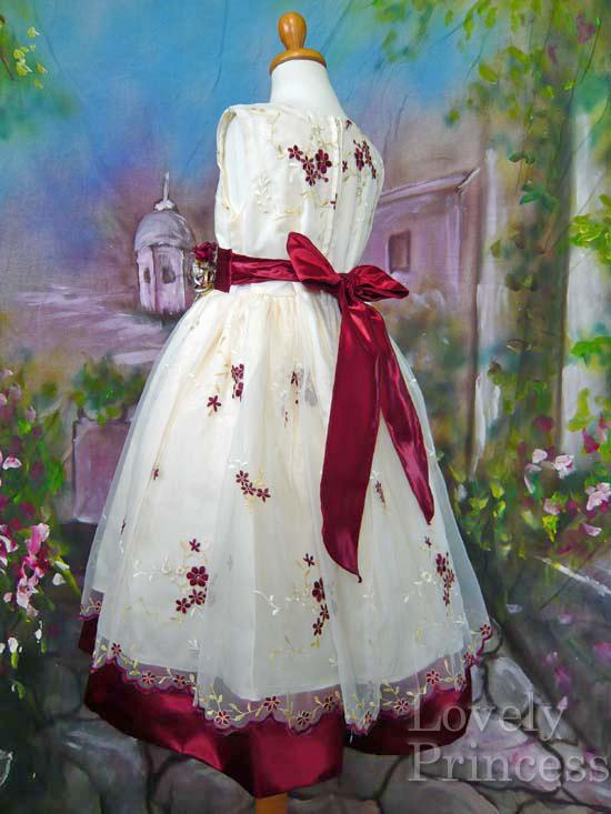 子供ドレス ジェーン バーガンディ