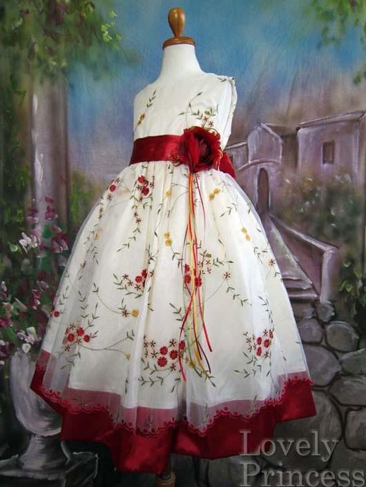 子供ドレス ジェーン レッド