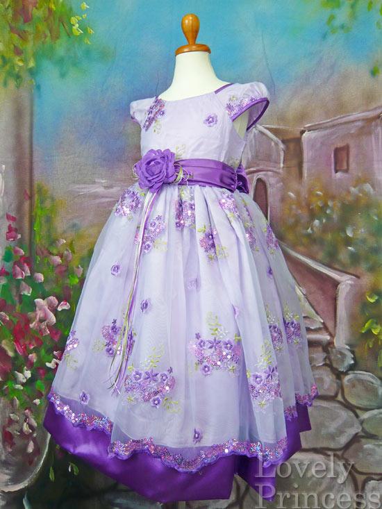 子供ドレス ニコル パープル
