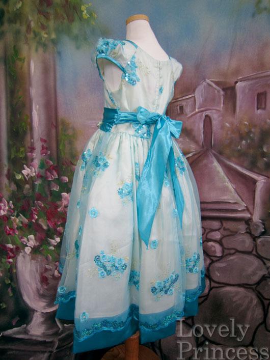 子供ドレス ニコル アイボリーアクア