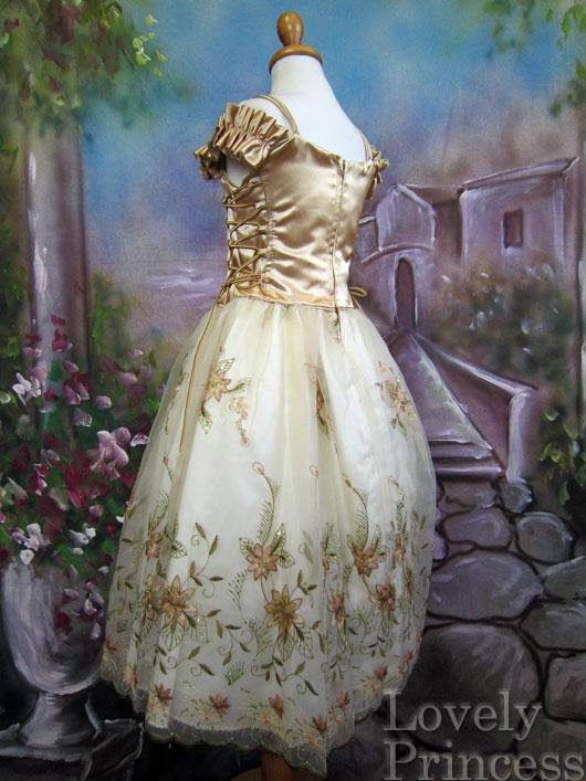 子供ドレス ダイアナ ゴールド