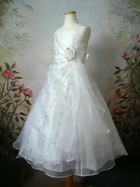 子供ドレス ロゼリア ホワイト