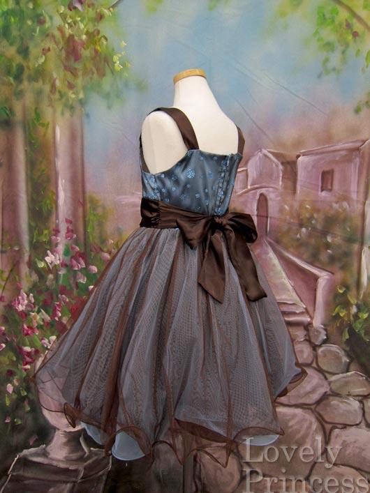 子供ドレス マライア ブラウン&ブルー