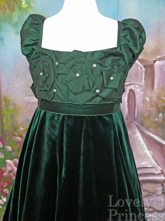 子供ドレス アビー グリーン