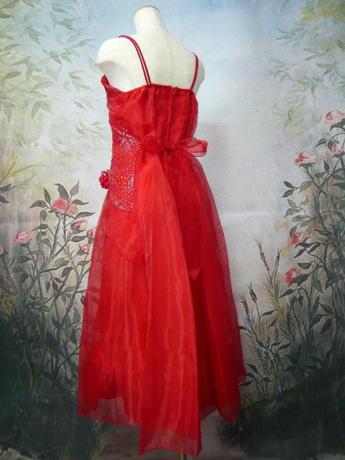 ジュニアドレス オリーブ レッド