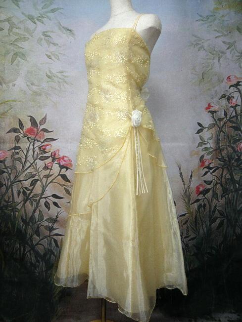 ジュニアドレス オリーブ イエロー