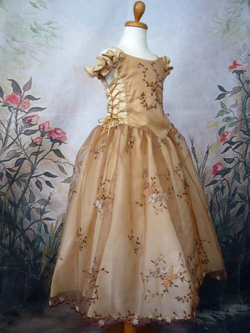 子供ドレス メイシー ゴールド