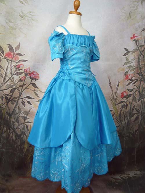 子供ドレス オリビア アクアブルー