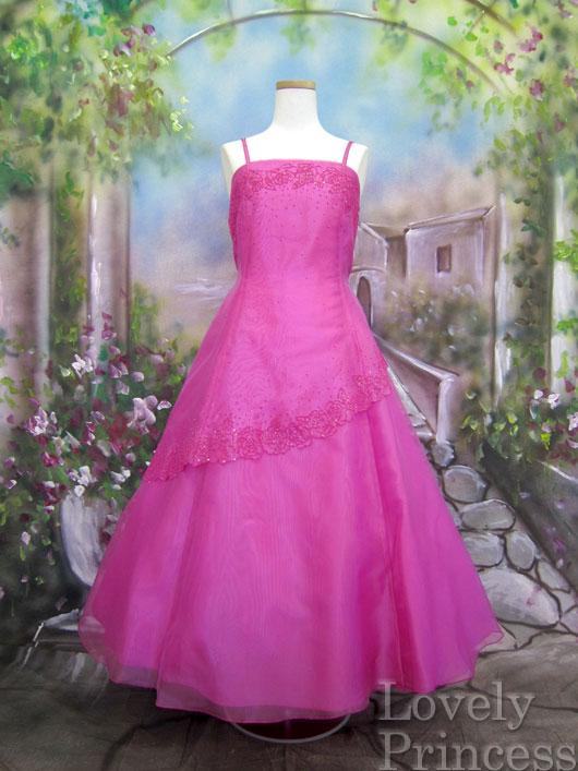 子供ドレス ソフィー フューシャ