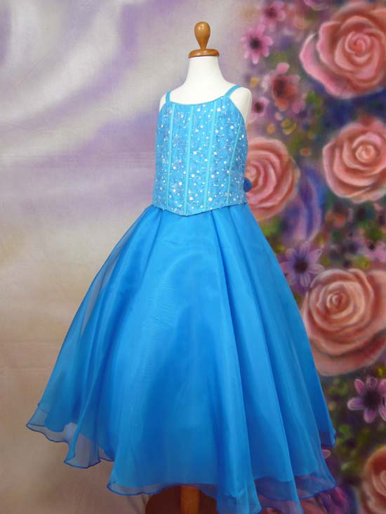 子供ドレス サンドラ アクアブルー