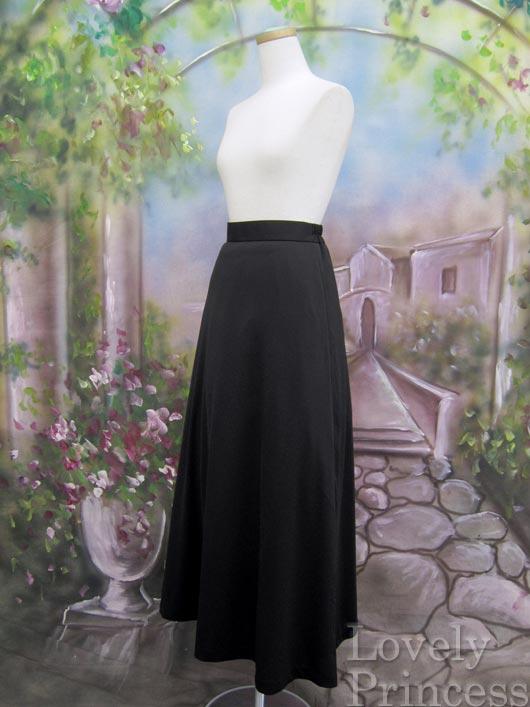 レディース用 丈が選べるフォーマルロングスカート ブラック(139-1102)