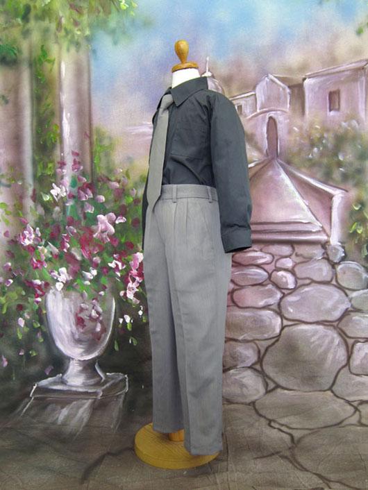 子供用スーツ・4点セット グレー(SKM118)