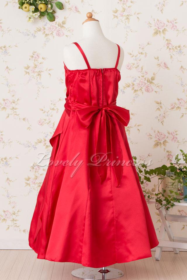 結婚式子供ドレス ゲイル レッド