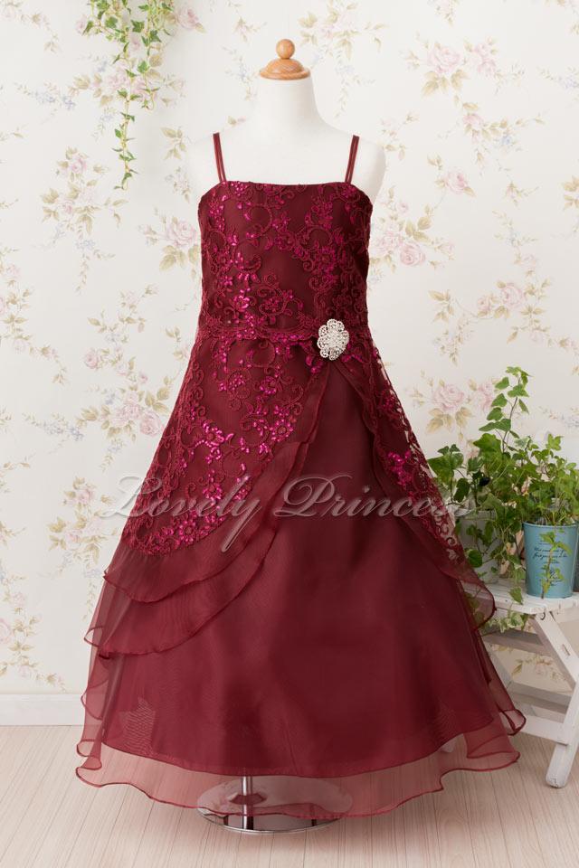 子どもドレス 子どもドレス(TK4386) バーガンディ