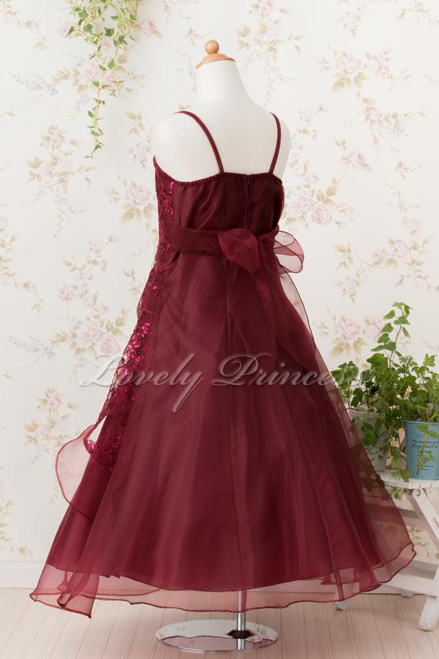 演奏会子どもドレス 子どもドレス(TK4386) バーガンディ