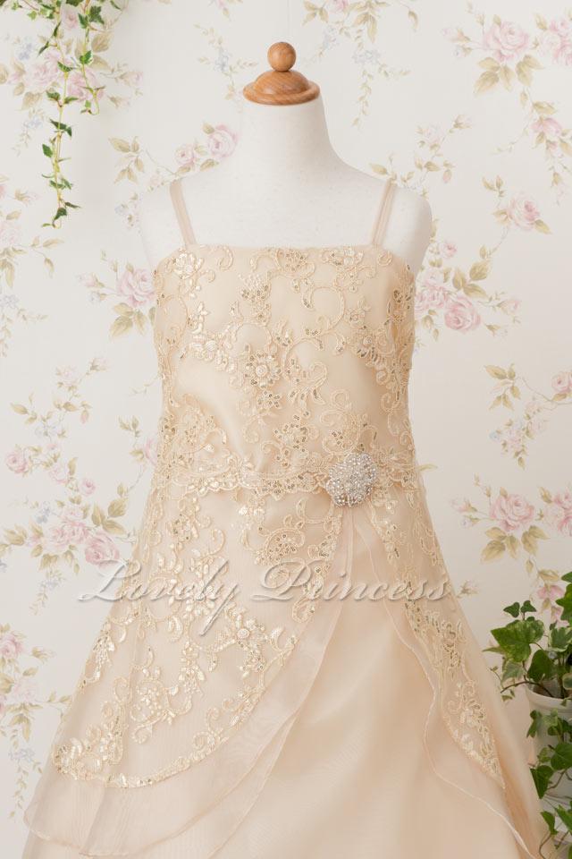 発表会子どもドレス 子どもドレス(TK4386) シャンパン