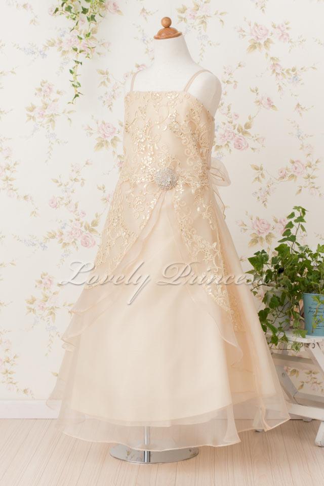 結婚式子どもドレス 子どもドレス(TK4386) シャンパン
