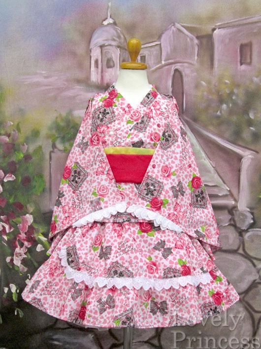 浴衣ドレス(622683)ピンク/100cm
